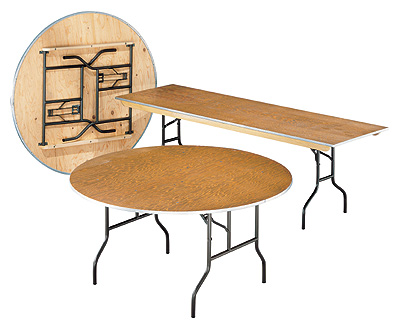 Two different folding table shapes and three.